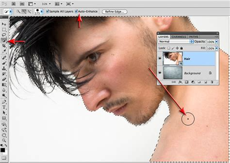 Photoshop Cs5 Tutorial Refine Edge Tool | how to learning refine edge photoshop cs5 tutorial from
