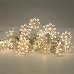 string of flower lights battery operated warm white 20 flower led flowers