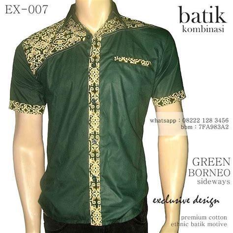 batik kombinasi pria warna hijau batik kombinasi