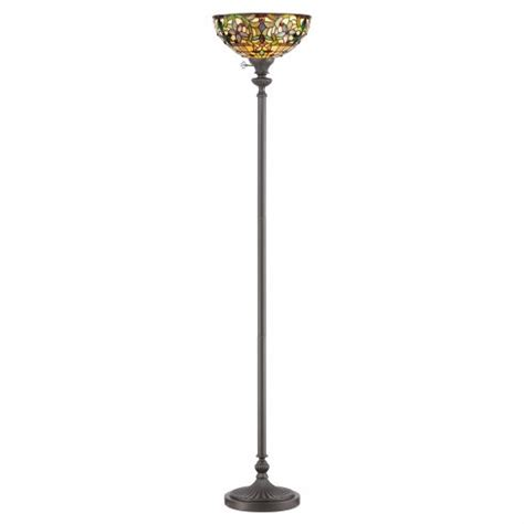 Quoizel Kami Floor L Elstead Lighting Quoizel Kami Single Light Up Lighter Floor L In Vintage Bronze Finish And