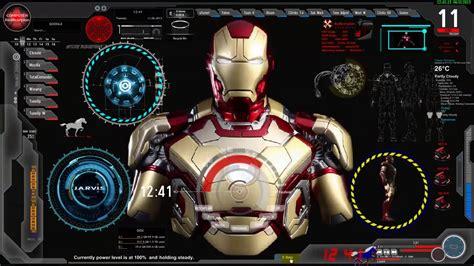 update iron man jarvis desktop animated
