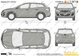 the blueprints vector drawing mazda cx 7