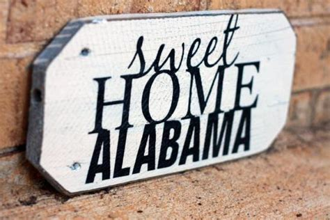 sweet home alabama painted wood sign signs by andrea
