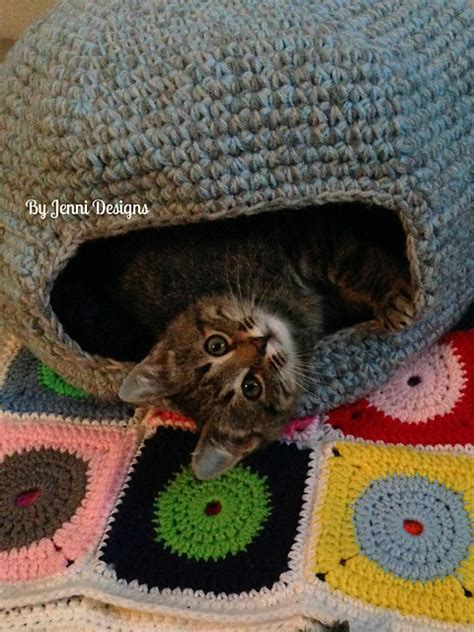 free crochet pattern cat cave crochet patterns galore marley s cat cave or bed