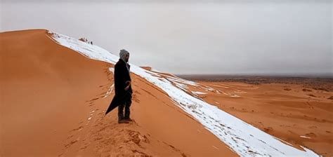 sahara desert snow snowfall in the sahara desert fourth time in 40 years