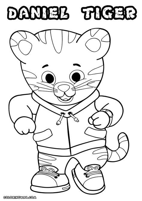 coloring page daniel tiger daniel tiger coloring pages coloring pages to