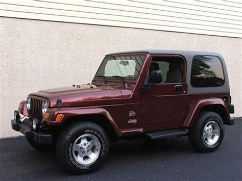 jeep sahara maroon used jeep wrangler sahara 2003 details buy used jeep