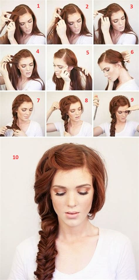 easy step by step hairstyles for medium hair