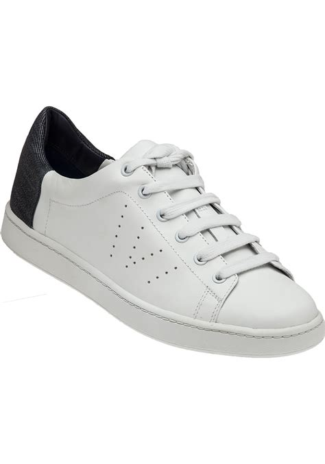 white leather sneaker vince varin white leather lace up sneaker in white lyst