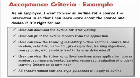 acceptance criteria template 28 images how we use