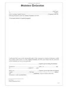 statutory declaration template act statutory declaration forms and business