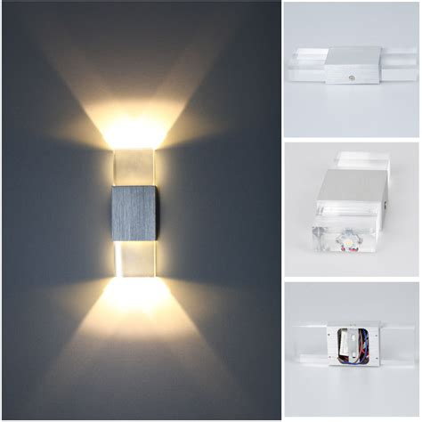 modern 2w led wall light up l sconce spot lighting