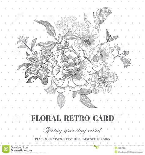 chic floral orange and thanksgiving place cards template floral shabby chic card stock vector image 42912405