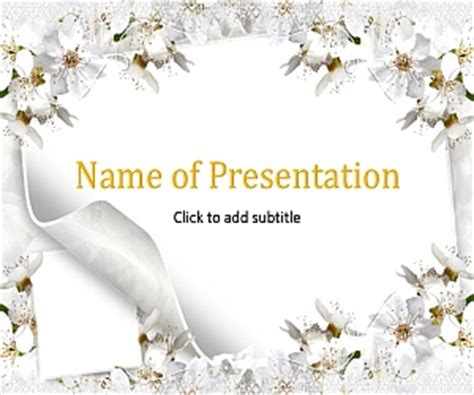 free wedding powerpoint templates the wedding bunch animated wedding template for