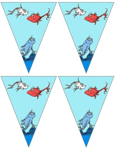 printable fish banner 450 best images about dr seuss classroom theme on