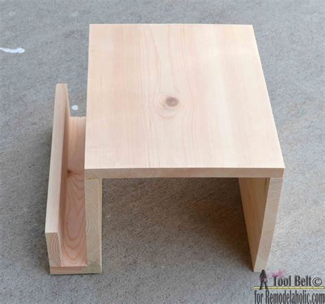 how to build a couch table remodelaholic diy sofa arm table
