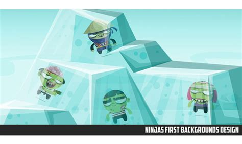 game design vs animation ninjas vs zombies game on behance