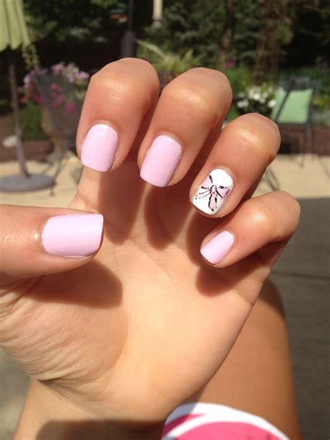 Nail Also Search For Light Pink Nails With A Bow Nail