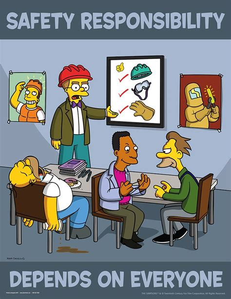 Home Depot Kitchen Design Training by Workplace Safety Posters Simpsons Safety Responsibility