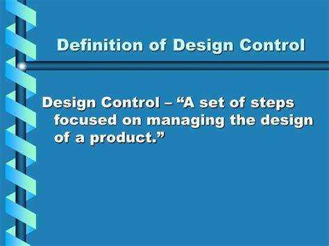 design technology definition ppt training presentation on design control powerpoint