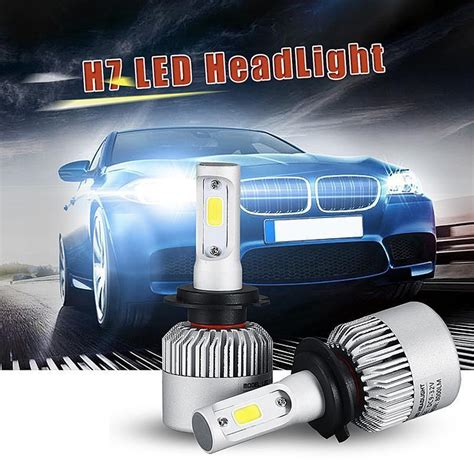 lada h7 led osl h7 led car headlight bulb 72w 8000lm 6500k auto