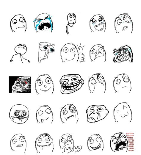 Meme Faces Explained - rage comics faces list www imgkid com the image kid
