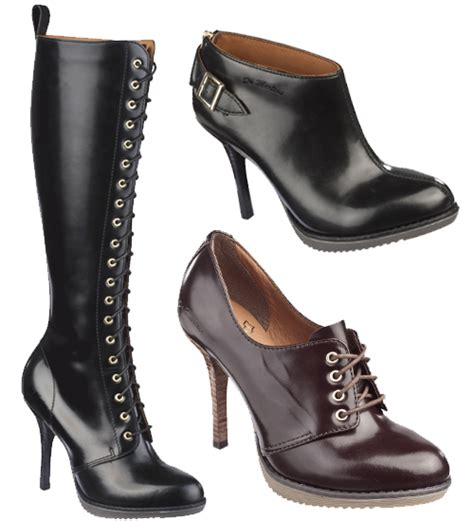 dr martens high heels dr martens trade the workman s boot for a heel