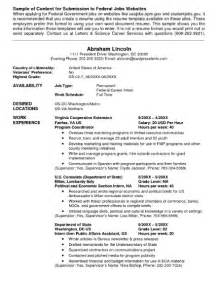 usa jobs resume format sample resume format