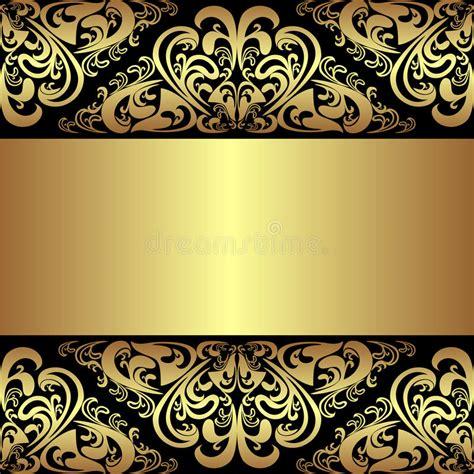 Royal Gold And Black Wallpaper