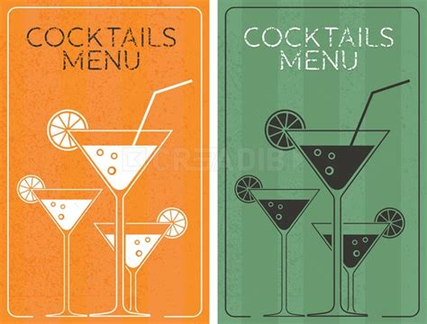 cocktail cards template cocktails menu card design template creadib