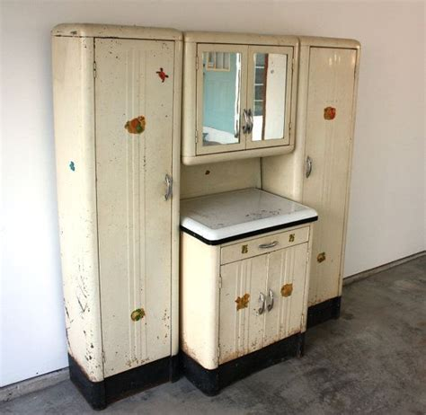 1920s Kitchen Cabinets by Vintage 1920 S Steel Kitchenette With Enamel Top Storage