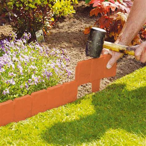 brick cobbled effect plastic garden edging plant