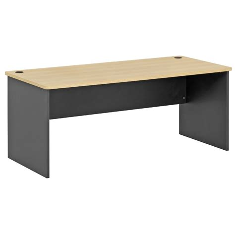 Toro Straight Desk 1800mm Maple Grey Ebay Office Desk Table