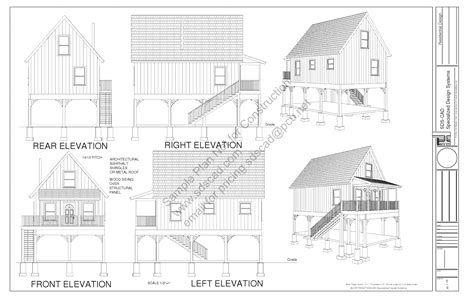 216 Aspen Cabin Plans Converted To To Raised Flood Plain | 216 aspen cabin plans converted to to raised flood plain