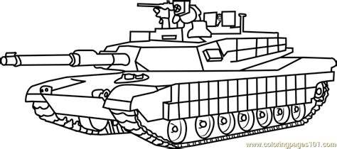 Galerry coloring pages military tank