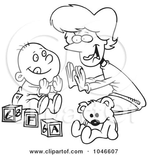 patty cake coloring page royalty free rf clip art illustration of a cartoon black