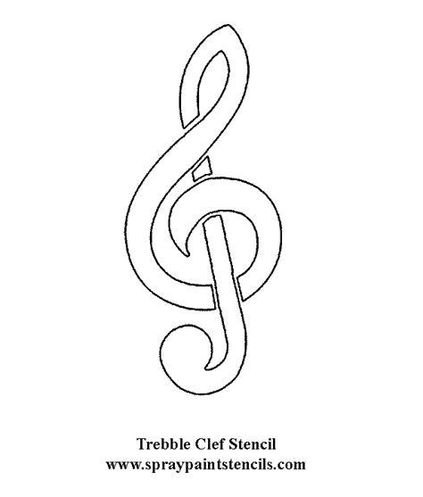 Free Music Stencils Treble Clef Template