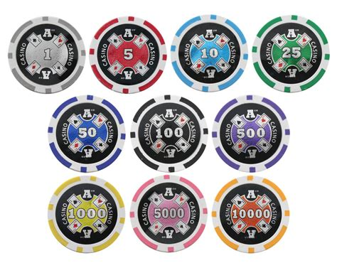 pc aces  clay poker chips  laser effects p