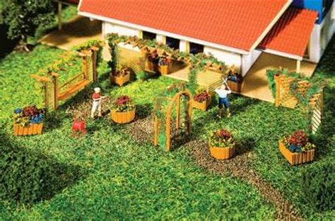Faller Countrysite Decor Acceessories Miniature Building Ho Scale garden design elements 2 ho scale model railroad building accessory 180554 by faller 180554