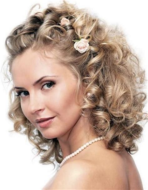 hairstyles curly wedding great updos for maid of honor with medium hair length