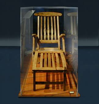 titanic collector recovered items deck chair