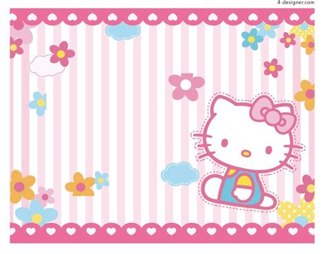 background design hello kitty 4 designer hello kitty background vector material