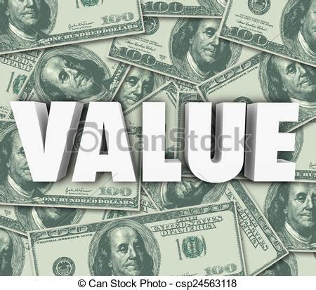 Asset Search Cost Value 3d Word Money Background Asset Worth Price Cost Value Clipart Search