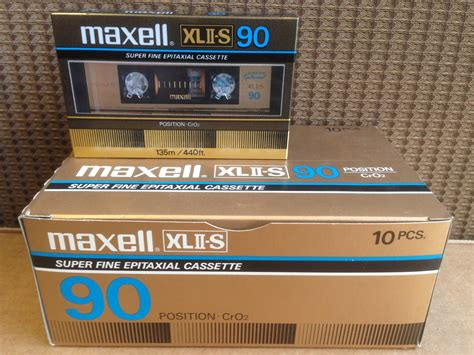 cassette maxell maxell xlii s 90 the best high bias cro2 blank audio