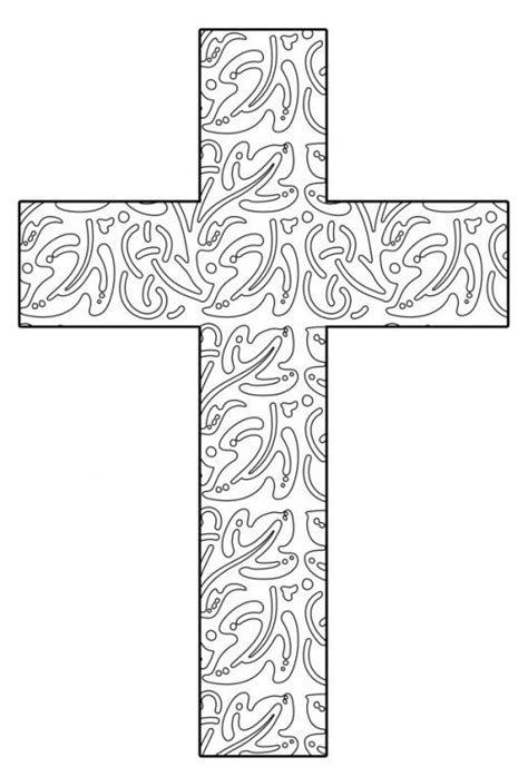 hard cross coloring pages free printable cross coloring pages