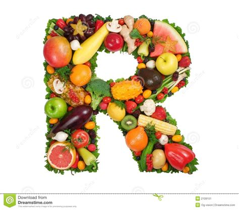 r fruits and vegetables alphabet of health r stock image image of calorie
