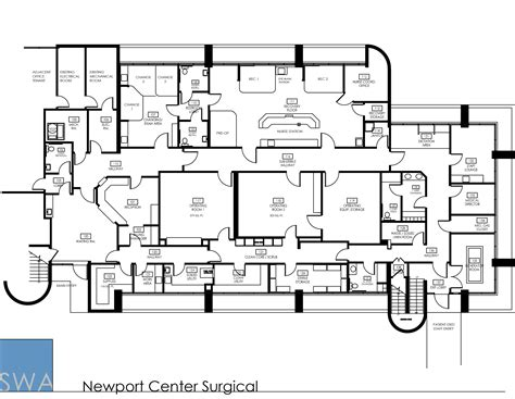 operating room floor plan layout newport center surgical saunders wiant oc
