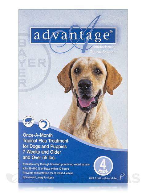 advantage for dogs 55 lbs advantage 174 for dogs and puppies 7 weeks and 55 lbs four 0 135