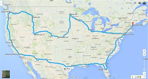 road map four corners usa to the four corners of the usa on an electric motorcycle