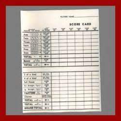yahtzee score pad template items similar to vintage yahtzee score pad version